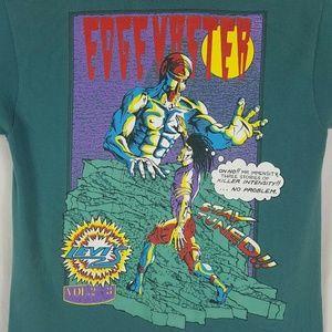 Vtg Levis Comic T Shirt Large Green Volume 2 Rare